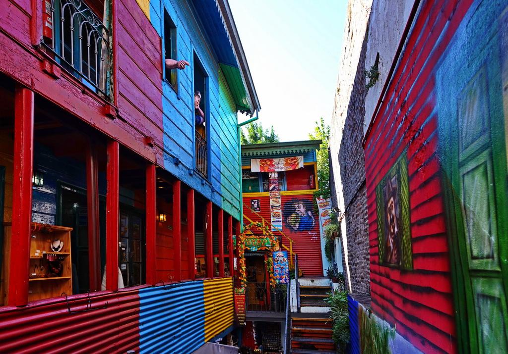 Дворик в районі Ла-Бока в Буенос-Айресі