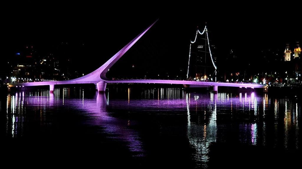 """""""Міст жінки"""" в районі Пуерто-Мадеро в Буенос-Айресі"""