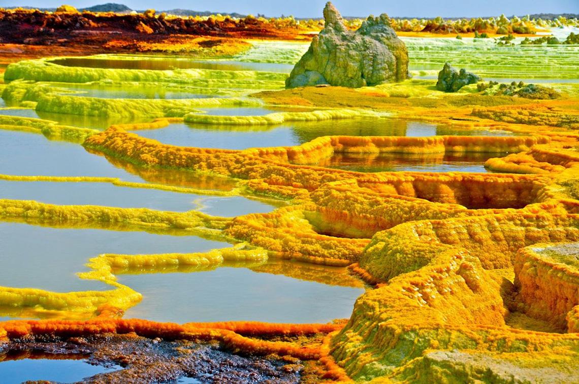 Вулкан Даллол в пустелі Данакіль (Ефіопія)