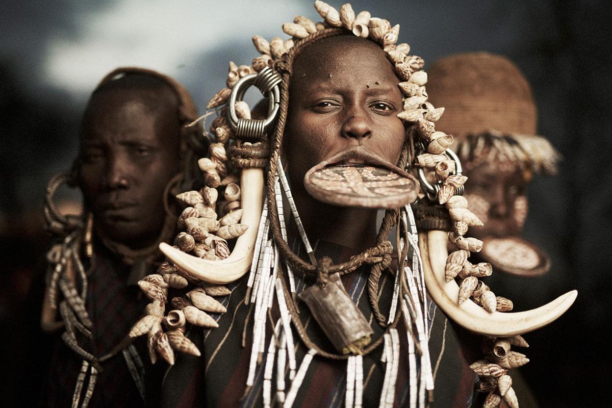 Племя мурсі в долині Омо (Ефіопія)