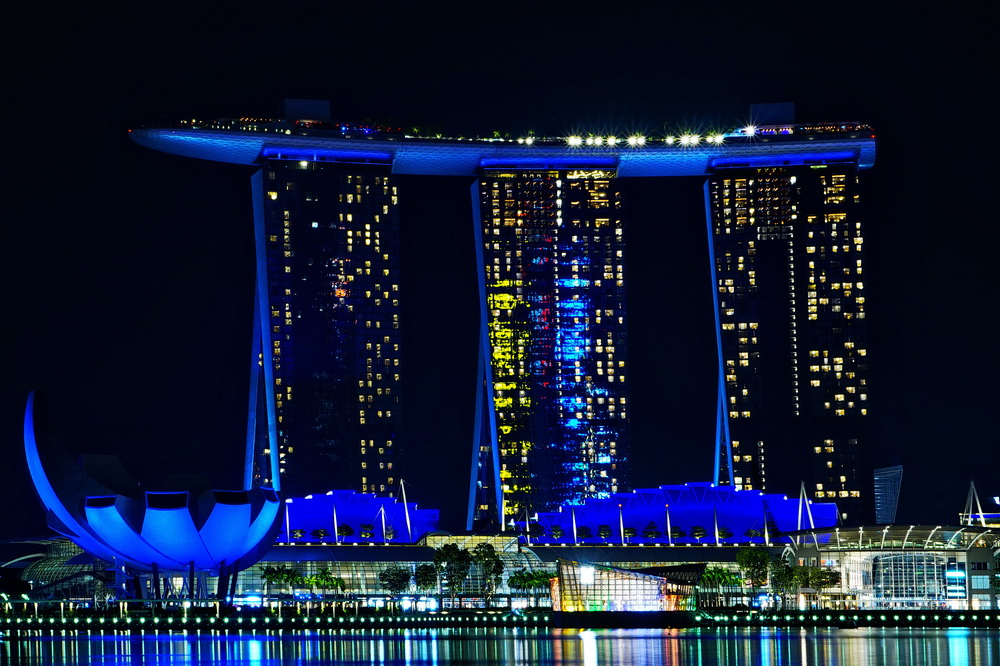 Нічний Сінгапур: Marina Bay Sands