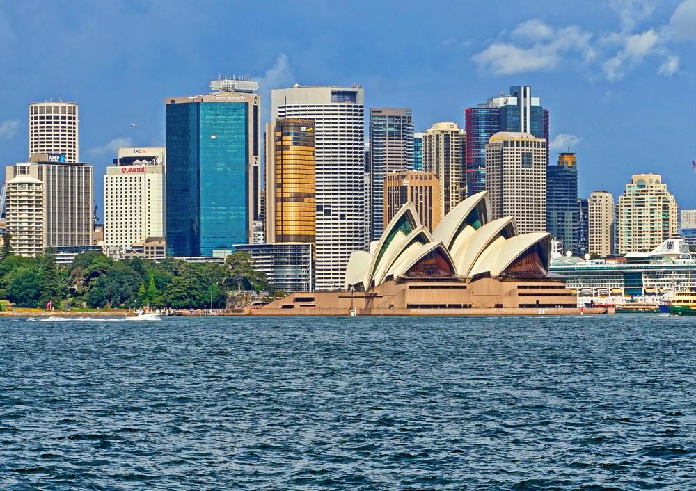 Вид на Сідней від затоки Порт Джексон